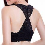 ANGOOL Soutien-Gorge dentelle -Sans Armatures Bralette Bustier Crop Top de Tous les Jours Femme de la marque ANGOOL image 3 produit