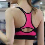Femme Soutien-Gorge De Sport Avant Zipper Brassière Sport Push Up Bra Coussinets Amovibles Pour Fitness Jogging Yoga Course de la marque LaoZan image 1 produit