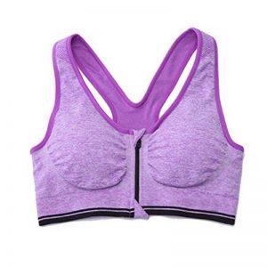 Femme Soutien Gorge Sport Zippée Devant Sans Armatures Soutien-Gorge De Sport Yoga Course de la marque LaoZan image 0 produit