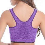 Femme Soutien Gorge Sport Zippée Devant Sans Armatures Soutien-Gorge De Sport Yoga Course de la marque LaoZan image 2 produit