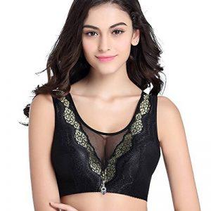Femmes Soutien-Gorge sans Coutures Gilet de Sommeil Bra Large bandoulière Lace V profond Sous-vêtement Big Tasse de la marque Yonglan image 0 produit