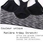 INIBUD Brassière Sport Femme Lot de 5 / 3 / 2 S M L XL Soutien-Gorge de Sport Space Dye Coussinet Amovible Sans Couture Sans Armature de la marque INIBUD image 3 produit