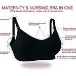 Soutien-gorge de maternité sans couture pour femmes allaitant avec rallonges de soutien-gorge inclues (Lot de 2 / Lot de 3) de la marque AMOURRI image 2 produit