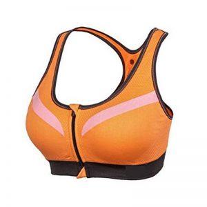 Soutien-Gorge De Sport Femme Brassière Sans Armature Yoga Gym Fitness Devant Zipper Soutien-Gorge de la marque LaoZan image 0 produit