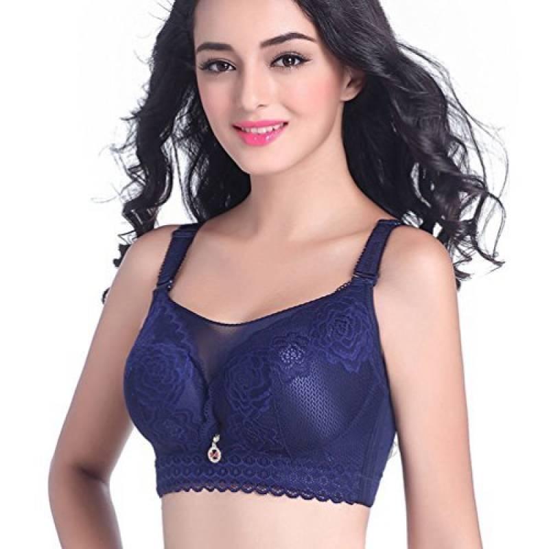 Yiiquan Femmes Hiver Grande Taille Sans Armature Soutien-gorge Push Up Bra  Dentelle Grand Cup de la marque Yiiquan 27502c0ba59
