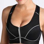 SYROKAN - Femme Soutien Gorge de Sport Level 3 Zippé Devant Amovibles Padded de la marque SYROKAN image 2 produit