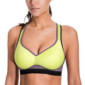 SYROKAN Femme Soutien Gorge de Sport Sans Armature Dos Nageur Maintien Niveau 2 de la marque SYROKAN image 0 produit