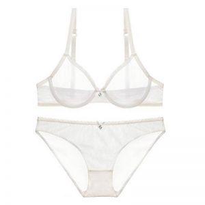 Varsbaby Femme Soutien-gorge en dentelle transparente et Ensemble de lingerie de la marque Varsbaby image 0 produit