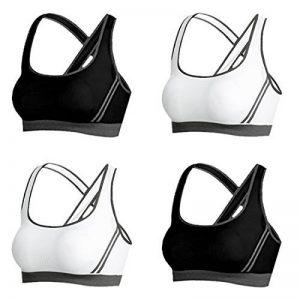 Vertvie Femme Lot de 4 Soutien-gorge de Sport Push Up Brassière Lingerie Sans Armature Respirant pour Yoga Fitness Jogging de la marque Vertvie image 0 produit