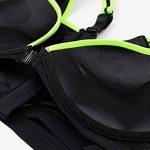 Westeng Femme Soutien-gorge de Sport avant Zipper Sans Armatures Bra Courir Vest Coussinets Amovibles pour Fitness Jogging Yoga Course de la marque Westeng image 3 produit